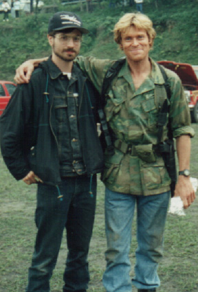 Eduardo & Willem Dafoe on location.